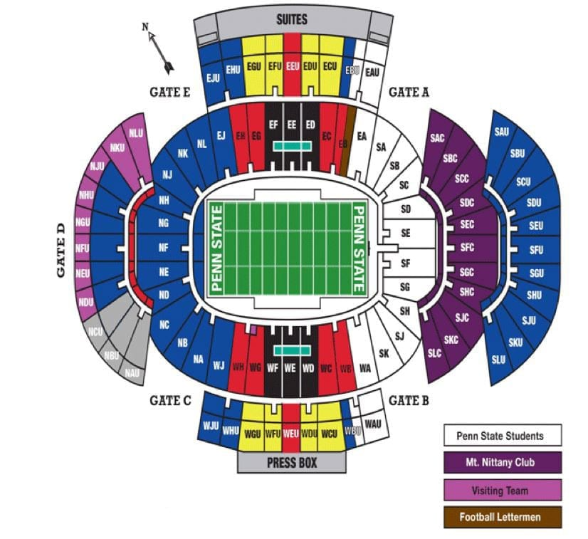 Penn State Seating Chart